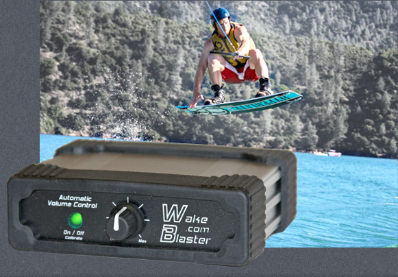 Wake Boarder with a WakeBlaster